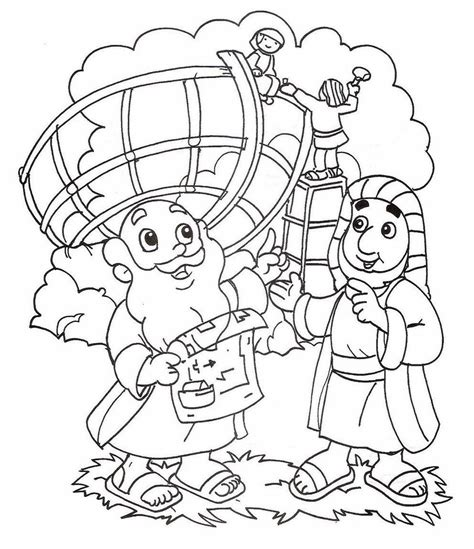 Bible Coloring Pages For Noah by Noah Ark With Color Coloring Pages