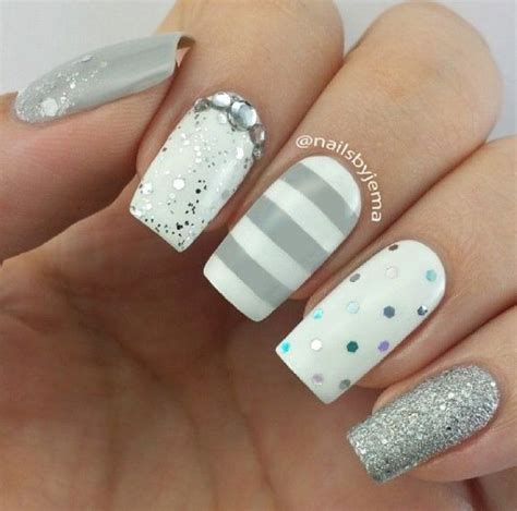 imagenes de uñas blancas de acrilico u 241 as blancas y grises nails u 241 as pinterest instagram