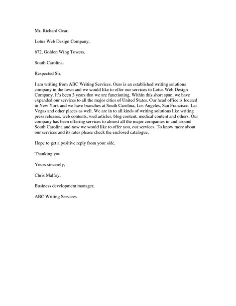 Offer Letter Business professional services cover letter