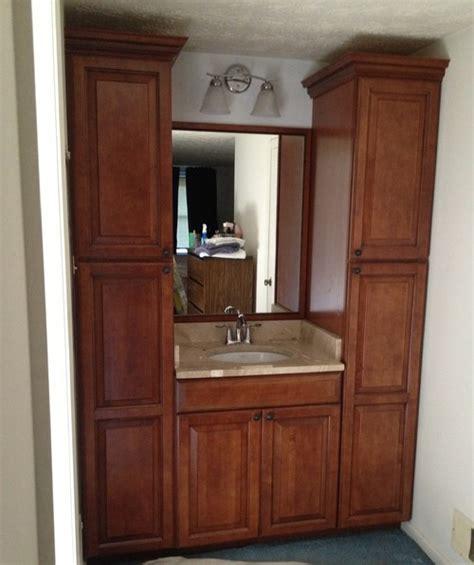 Small Bathroom Storage Houzz Small Bathroom Space Lots Of Storage