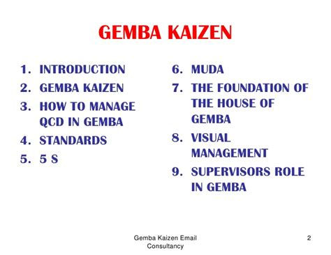 Ge Mba by Gemba Kaizen