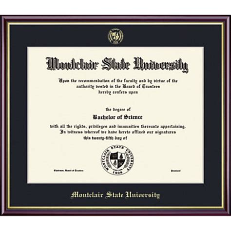 Montclair State Mba Program by Montclair State 8 X 10 Value Price Academic