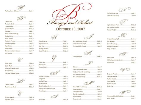 100 free seating chart template for wedding reception