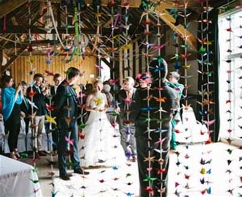 Origami Crane Pictures For Weddings - a handmade barn wedding with a thousand origami cranes