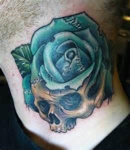 rose tattoo on neck gang 22 best neck throat tattoos images on pinterest