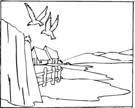 mountain landscape coloring page 70 best images about coloring pages on pinterest
