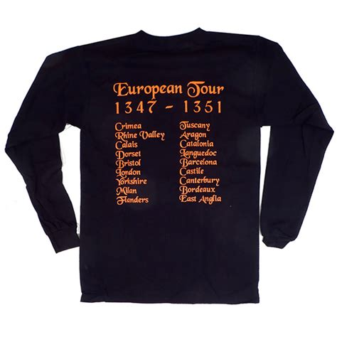 Tshirt Deat Note Europen black tour sleeve tshirt