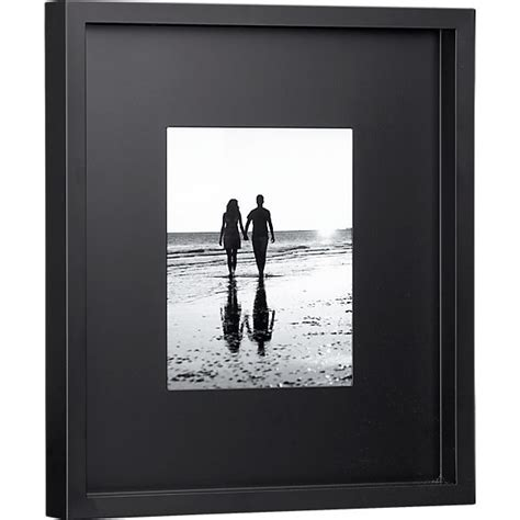 10 x 10 black frame with mat black matte 8x10 picture frame cb2
