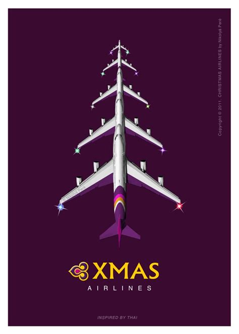 thai airways we wish you a merry christmas aviation
