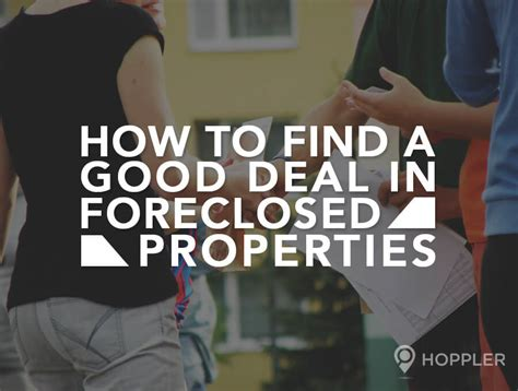how to find a deal in foreclosed properties