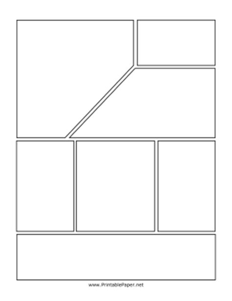 printable top angled comic page