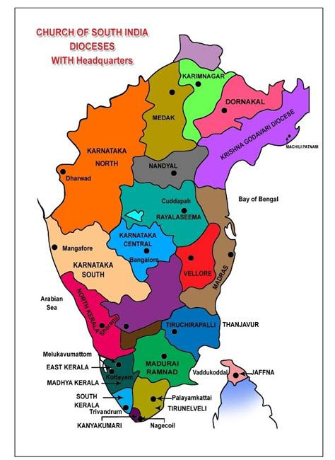 File Dioceses Of The Church file church of south india dioceses jpg wikimedia commons