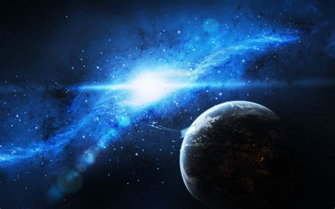 wallpaper earth light 2560x1600 spaceship stars the sky galaxy planet art