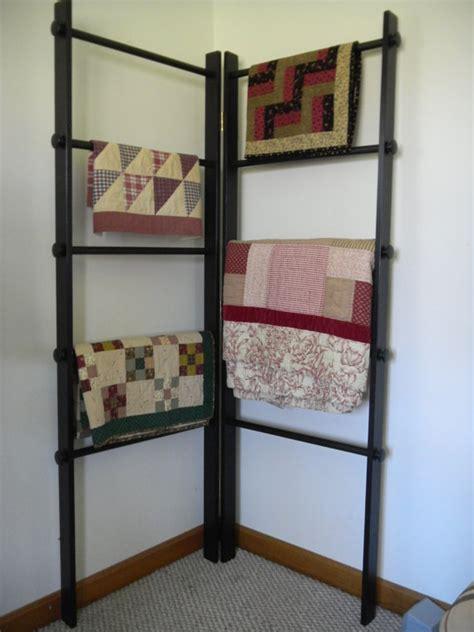 Quilt Ladder Rack by Large Corner Quilt Ladder Rack