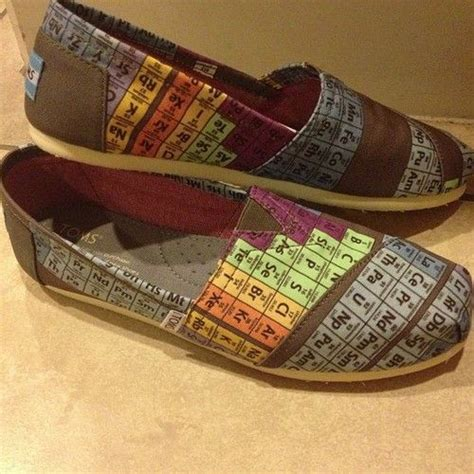 toms periodic table shoes periodic table toms toms