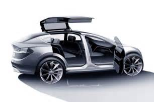 Tesla X Electric Car Price Tesla Model X Unveiled Electric Luxury Crossover With Wings