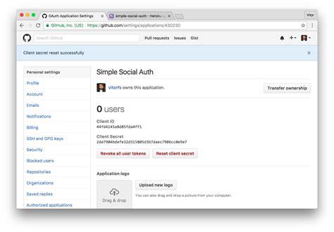 github application tutorial how to add social login to django