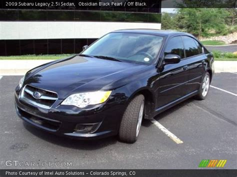 subaru legacy black interior obsidian black pearl 2009 subaru legacy 2 5i sedan