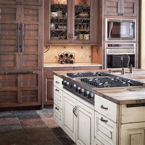 kitchen green painted wood kitchen cabinet with stove and rustic wood distressed painted wood cabinets double oven
