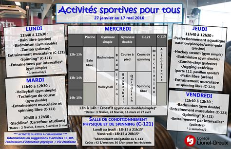 Calendrier Lionel Groulx Coll 232 Ge Lionel Groulx Actualit 233 S