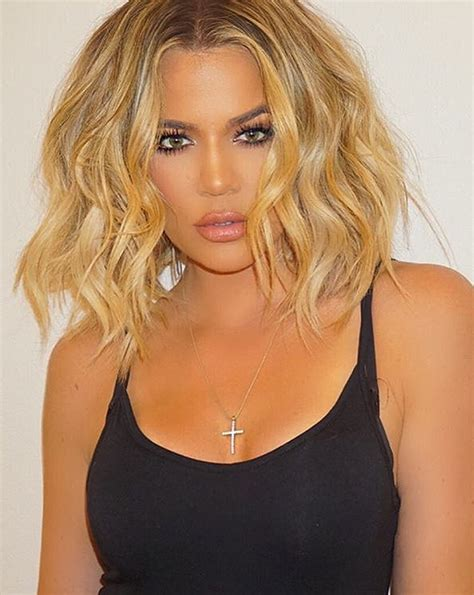ways to put a bob in a ponytail khlo 233 kardashian s best bob styles from textured waves to