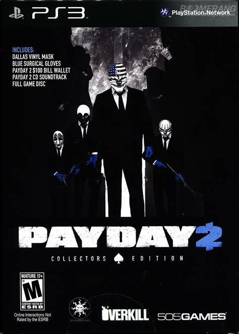 Best Seller Kaset Original Ps4 Payday 2 The Big Score Reg 1 payday 2 limited edition ps3 boomerangshop thailand dvd