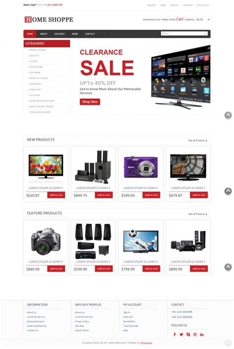 free ecommerce site templates 10 free ecommerce website templates themes free