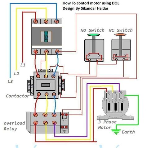 3 phase motor wiring diagram for controlling three phase motor