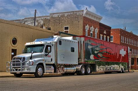 freightliner semi truck with custom sleeper photograph by