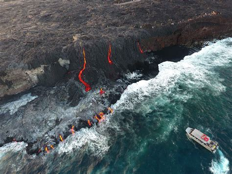 hawaii lava boat tours volcano hawaii lava tours big island tours to see lava in hawaii