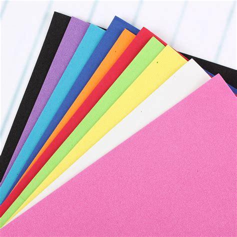 Foam Craft Paper - 10pcs thick multicolor sponge foam a4 paper fold