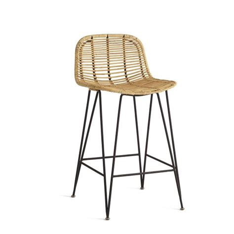 Rattan Swivel Counter Stools by Wicker Counter Stool Modern Indoor Swivel Rattan 24 In