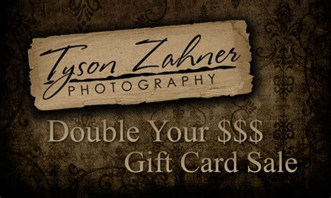 Black Friday Gift Card Sales - tyson zahner photography double your money gift card sale black friday only tyson