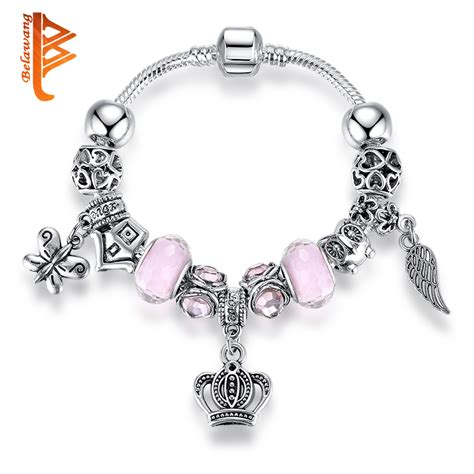 Wholesale Bulk 12pair Charms Murano Glass Lwork Bead Silver P Dangl new fashion european style crown charm bracelet for antique silver murano glass