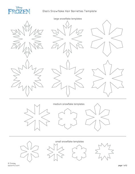 printable disney snowflakes frozen coloring pages snowflake patterns printable car