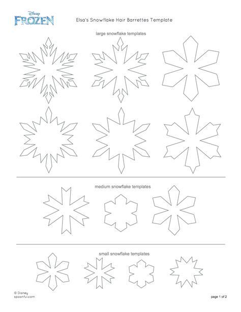 frozen snowflake templates 7 best images of elsa snowflake stencil printable frozen