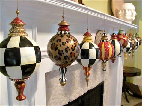 hand painted large finial style designer christmas