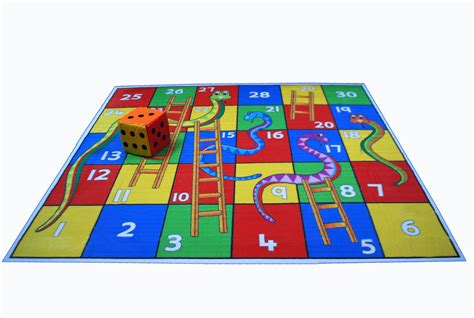 Snakes And Ladders Mat atpata funky snakes ladders 6 x 6 mat board