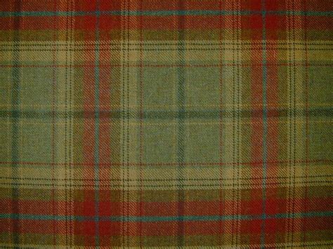 upholstery tartan curtain fabric wool tartan red green check plaid tweed