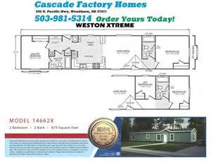 cascade factory homes 14662x weston xtreme floor plan