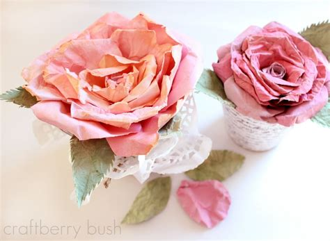 mulberry paper flower tutorial how to make a crepe paper cabbage rose