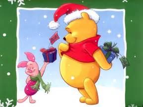 piglet giving presents christmas wallpaper christmas