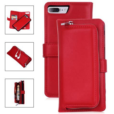 Flip Shell Iphone 7 7 Plus Hardcase Harga Murah Jamin Bagus flip leather detachable magnetic zipper wallet cover