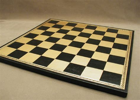 Bo Set Black 1 18 quot pressed leather chessboard on wood