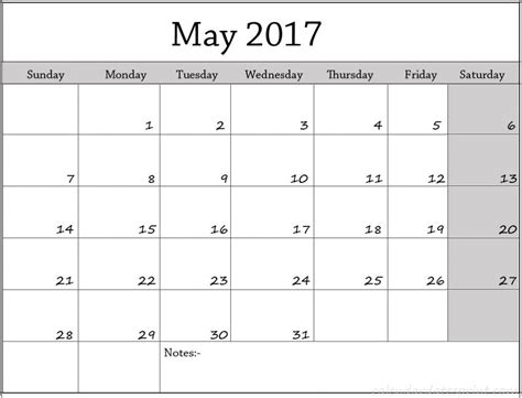 may template free may 2017 calendar template printable