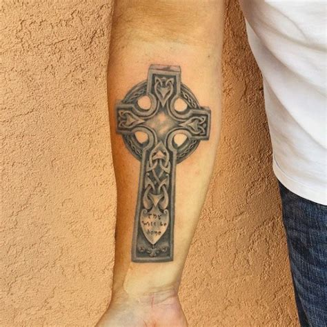 celtic cross tattoos forearm 100 celtic cross tattoos for ancient symbol design ideas