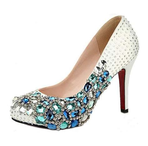 high heels with diamonds high heels 2018 rhinestone prom shoes