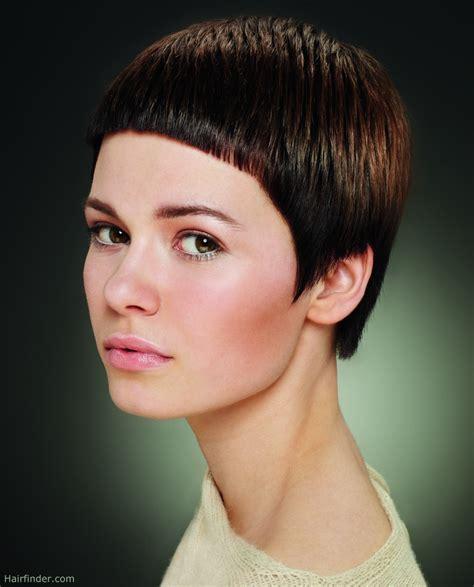 short hair very short haircut with dramatically short bangs gar 231 on