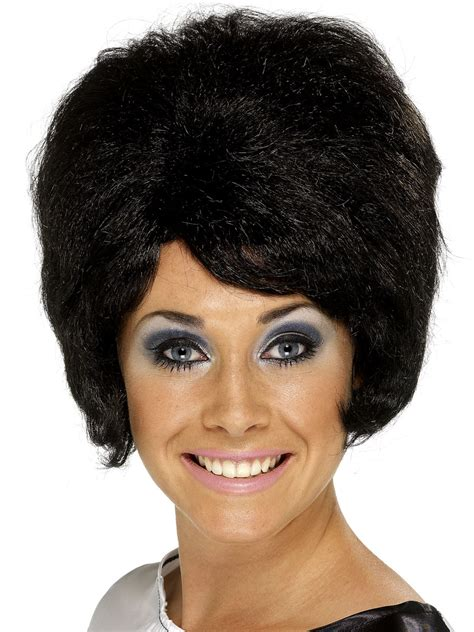 black hairstyles in the 60 s 60 s beehive wig black 42272 fancy dress ball
