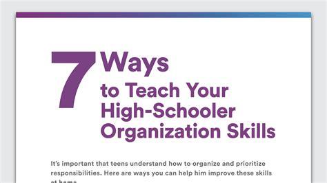 tips for disorganized teenagers organization skills in